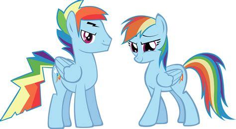 Rainbow Dash And Rainbow Blitz By Vector-brony On Deviantart