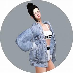 SIMS4 Marigold: ACC Vintage Denim Jacket • Sims 4 Downloads