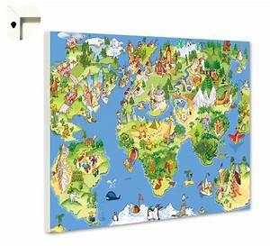 Magnettafel Für Kinder : magnettafel pinnwand memoboard motiv kinder weltkarte ebay ~ Frokenaadalensverden.com Haus und Dekorationen