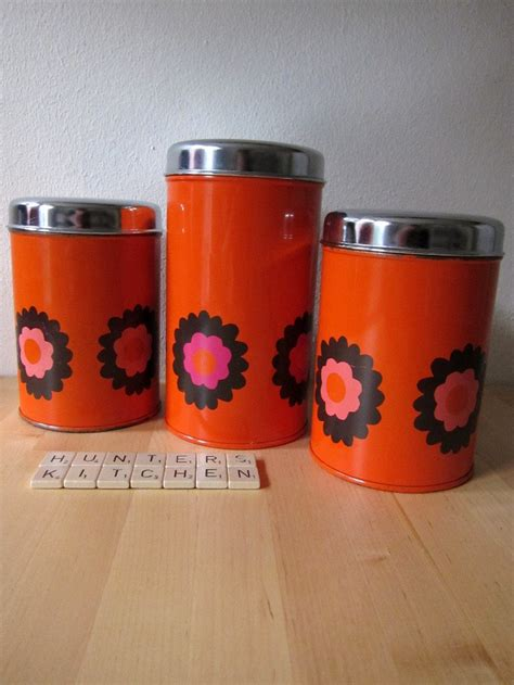 orange storage jars kitchen 17 best images about canisters on retro 3766
