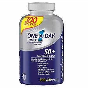 One-a-day 50  Men U0026 39 S Healthy Advantage- Multivitamin - 300 Tablets