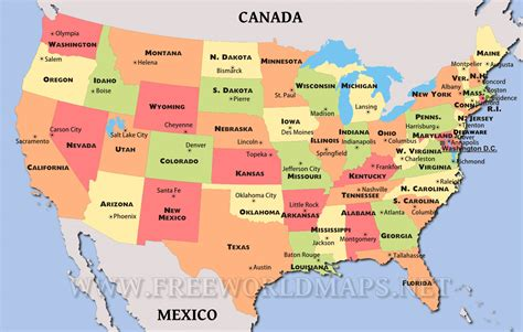 map  united states  large images