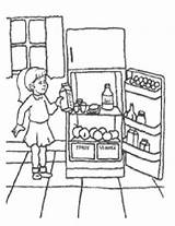Coloring Refrigerator Sheets Preschool Sketch Template Printable Myway Meat sketch template