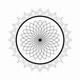 Mandala Coloring Pages Printable Flower Kaleidoscope Lotus Adults Domain Sheets Flowers Christmas Floral Malvorlagen Publicdomainpictures sketch template