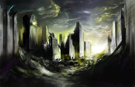 destroyed city backgrounds wallpaper cave