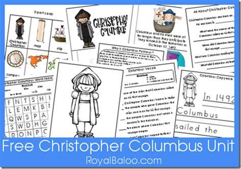 free christopher columbus unit printables free