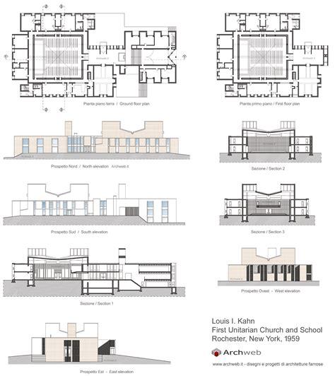 Chiesa Unitaria di Rochester dwg drawings