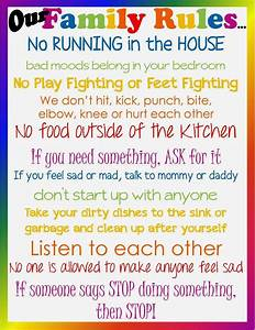 family house rules template don39t lose sight of the With house rules chart template