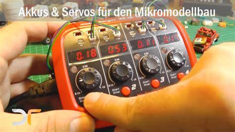elektronik fuer den mikromodellbau akkus und servos rc  youtube