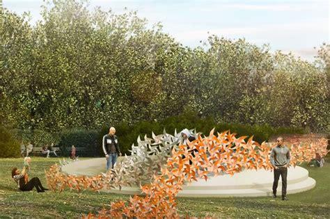 prospect parks rose garden   art installation