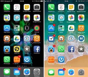 iOS 11 remplace les boules par des barres