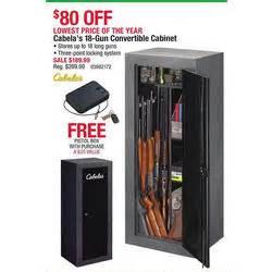 cabelas 18 gun convertible cabinet pistol box at cabela