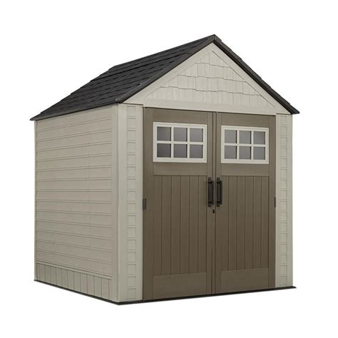 rubbermaid garden sheds home depot rubbermaid rubbermaid big max shed 7 ft x7 ft the