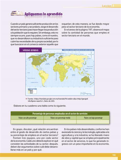 Libro de geografía 5 grado contestado pagina 96. Geografía quinto grado 2017-2018 - Página 135 - Libros de Texto Online