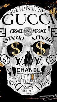 Gucci - Chanel - Hermes Lv - Monogram Skull 1 Digital Art ...