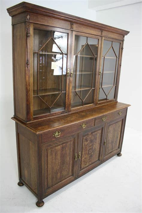 Bookcase China Cabinet by Large Antique Scottish Glass Front Bookcase Display