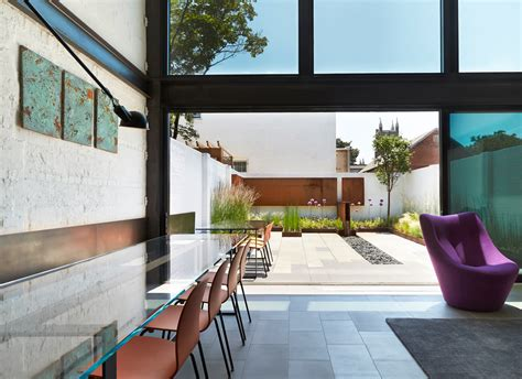 salt and pepper house contemporary row house with open concept living and entertainment spaces idesignarch