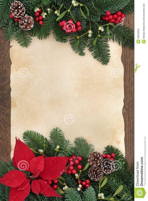 winter decorative border stock photo image
