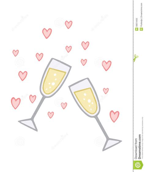 Engagement Champagne Love Toast Royalty Free Stock Photo