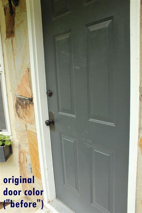 grey exterior door paint blue front door brick