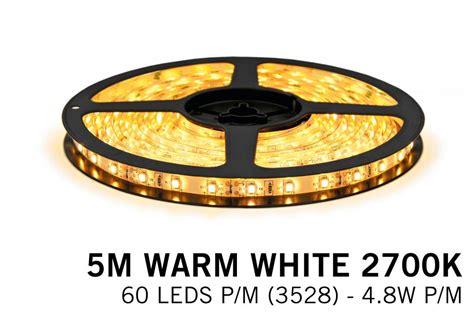 Warm White Led Strip (2700k) 60 Led's P.m. Type 3528