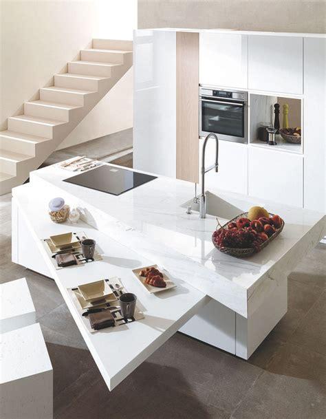 plan de travail en quartz pour cuisine un plan de travail ultra résistant pour une cuisine longue