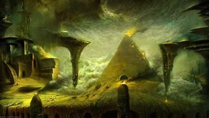 Pyramid Storm Necropolis Sand Overcast Tomb Fantasy