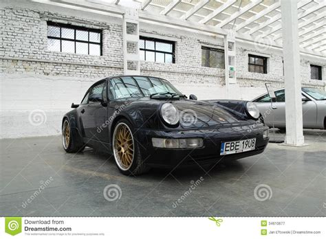 porsche sports car black classic sports car porsche 911 editorial photography