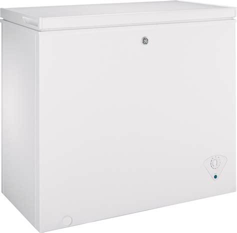 ge fcmskww  cu ft manual defrost chest freezer
