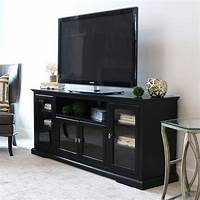 70 inch tv stand 70-inch Black Wood Highboy TV Stand - Free Shipping Today ...