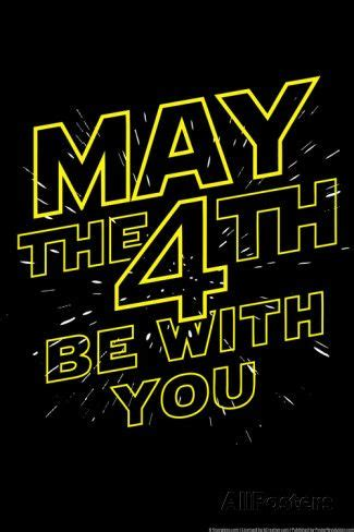 May the 4th Be With You Snorg Tees Poster Posters at ...