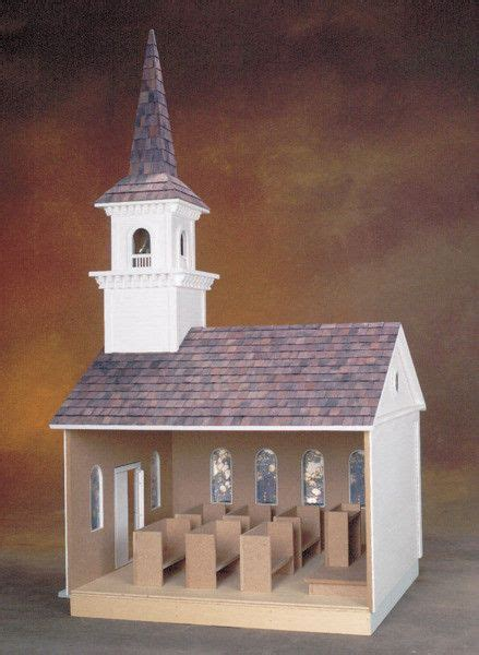 country church dollhouse kit vermont style real good toys
