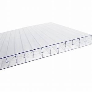 Plaque Pvc Exterieur : plaque plat polycarbonate claire l x l 3 m leroy merlin ~ Edinachiropracticcenter.com Idées de Décoration