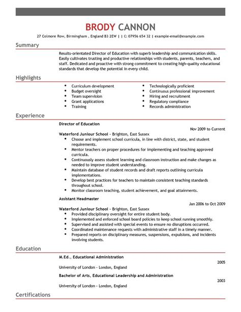 12 amazing education resume exles livecareer