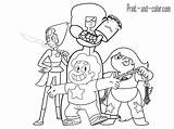 Steven Universe Coloring Pages Printable Character Characters Gems Crystal Pearl Garnet Cartoon Quartz Amethyst Star Evil Template Lit Gray Getcolorings sketch template