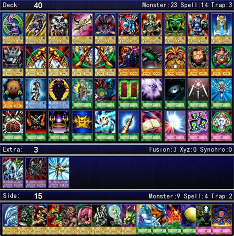 Yugis Battle City Deck List by Yami Yugi Muto S Duelist Kingdom Deck For Ygopro By