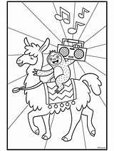 Llama Coloring Lama Crayola Llamas Sloth Printable Sloths Template Boombox Colouring Sheets Ausmalbilder Printables Luiaard Dibujos Colorir Alpaca Unicorn Printing sketch template