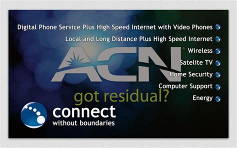 card phone project acn mlm business business card orlando fl