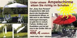 Ampelschirm Sun Garden : sonnenschirme gartenmoebel fachgesch ft gro mann strandk rbe h xter gartenm bel ~ Sanjose-hotels-ca.com Haus und Dekorationen