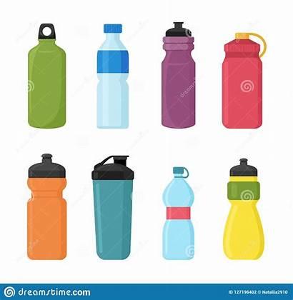 Plastic Vector Bottle Water Bottles Illustration Illustrations