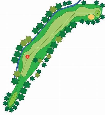 Hole Golf Course Clipart Layout Freeway Par