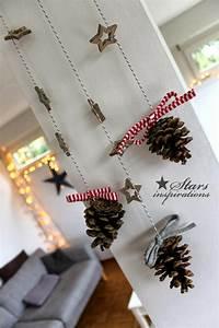 Weihnachtsdekoration Selber Basteln : weihnachtsdekoration ideen wanddekoration diy tannenzapfen ~ Articles-book.com Haus und Dekorationen
