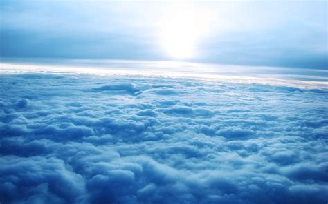 nature blue clouds sky wallpapers