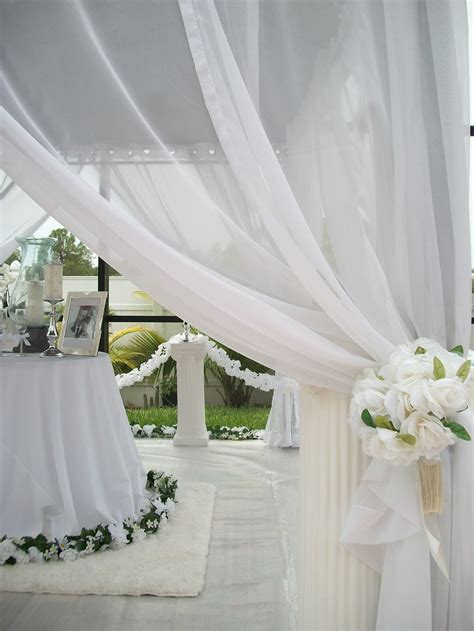 patio pizazz outdoor white sheer wedding drapes price