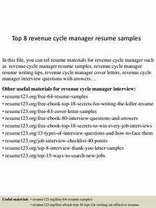 top 8 revenue cycle manager resume samples With healthcare revenue cycle management resume samples