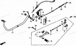 Honda Motorcycle 1986 Oem Parts Diagram For Pedal