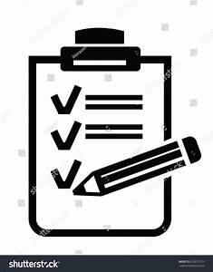 Vector Black Clipboard Icon On White Stock Vector ...