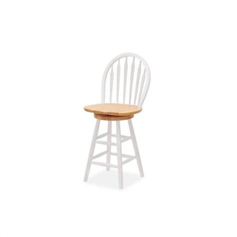 24 quot counter swivel bar stool in white 53624