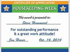 Free Housekeeping Certificates & Poster Downloads Promos