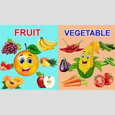 Learn Fruits Names In English For Children  Learn Vegetables Names For Kids Youtube